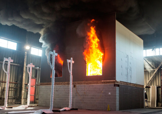 Cross laminated timber passes fire resistance tests in us