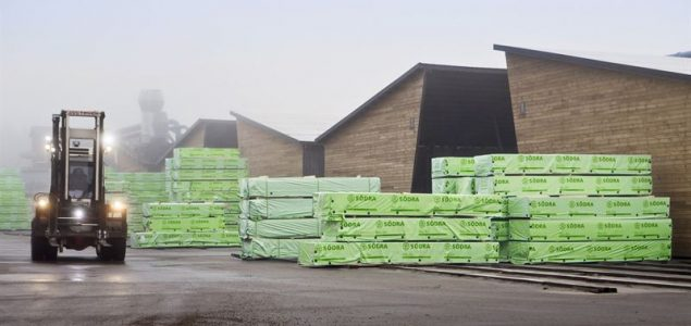 Södra announces strong sales in construction timber