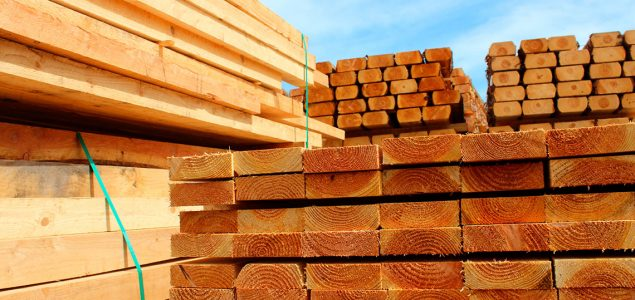 Many North American softwood lumber prices slide down