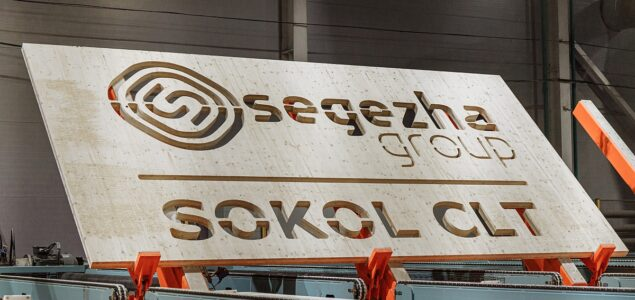 Segezha Group launched the first industrial production line for CLT panels in Russia